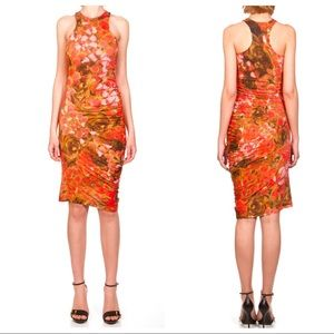 McQ by Alexander McQueen Floral Print Dress Ruched